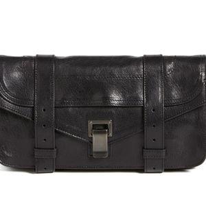 Proenza Schouler PS1 Black Leather Clutch